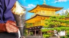 ซอฟต์ครีมแผ่นทองคำกินได้ ! ที่วัดทอง เกียวโต